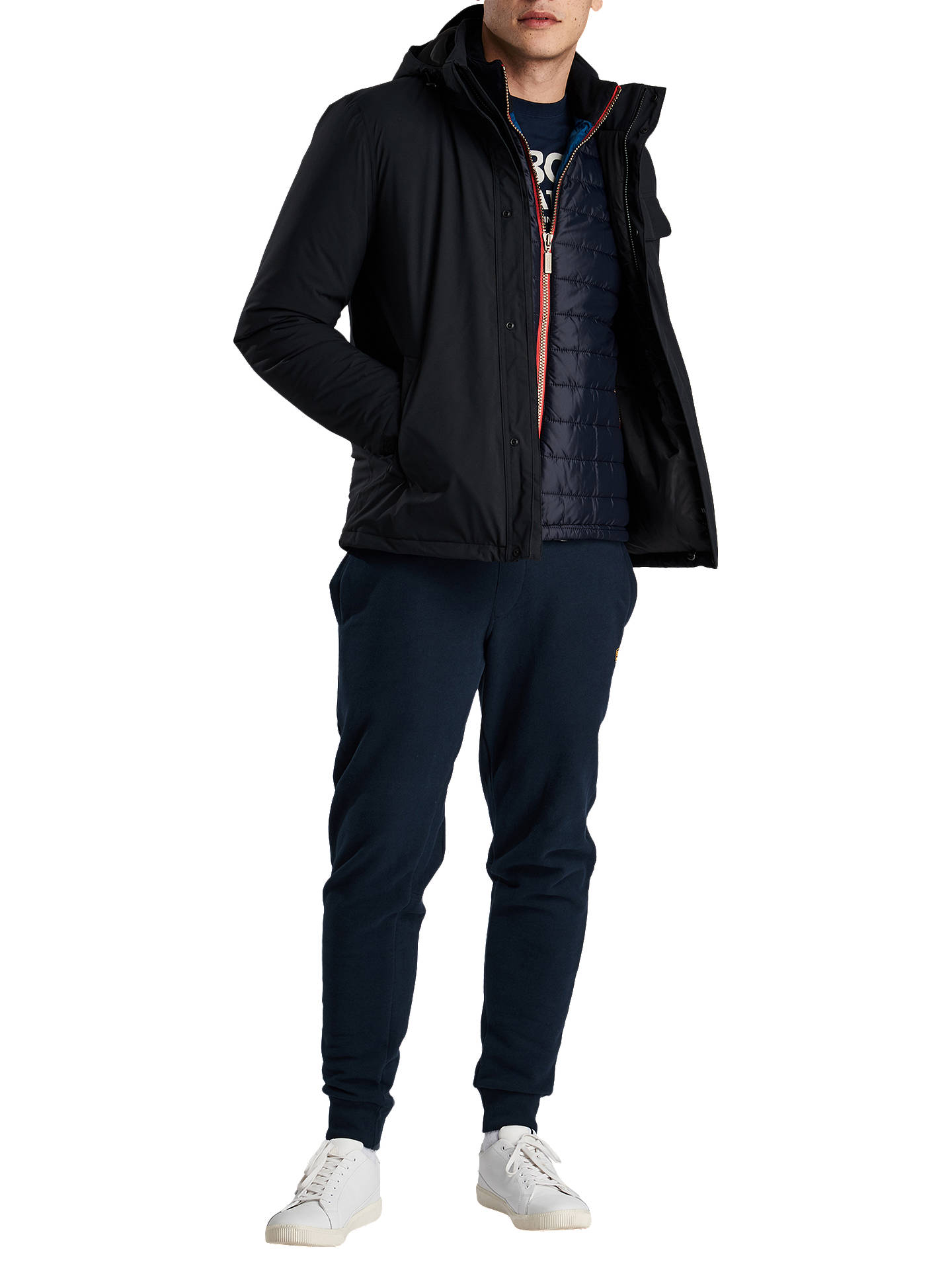 Buy Barbour International Casual Hooded Jacket, Black, L Online at johnlewis.com