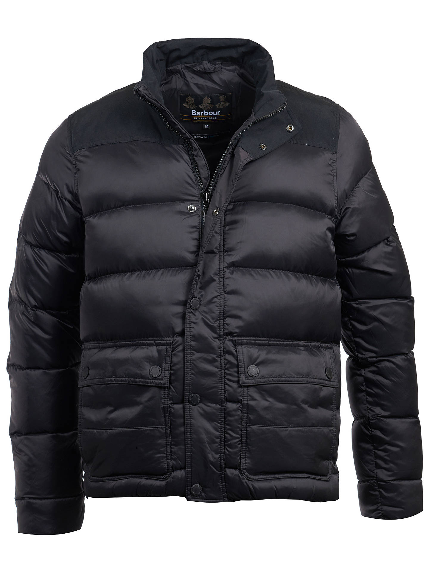 Buy Barbour International Tuck Bomber Jacket, Black, XL Online at johnlewis.com