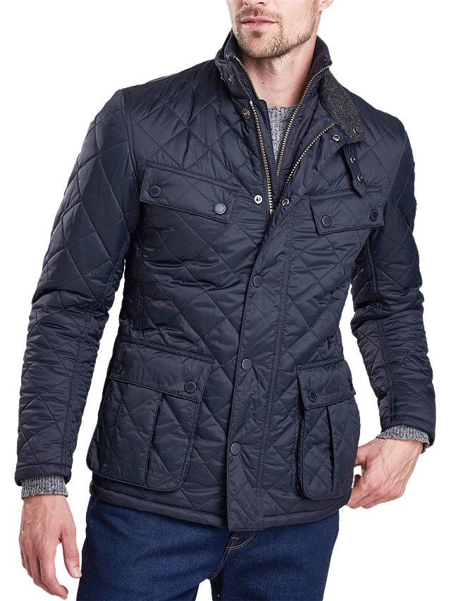Barbour International Windshield Quilted Jacket Navy At