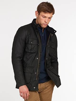 Barbour Corbridge Waxed Utility Jacket, Black
