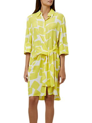 Hobbs Tallulah Dress, Yellow/Ivory