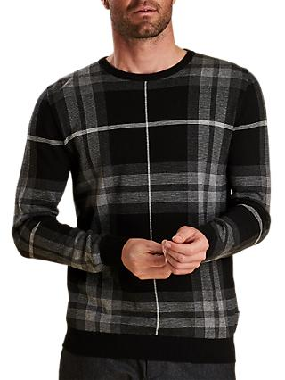 Barbour Tartan Jacquard Jumper, Grey