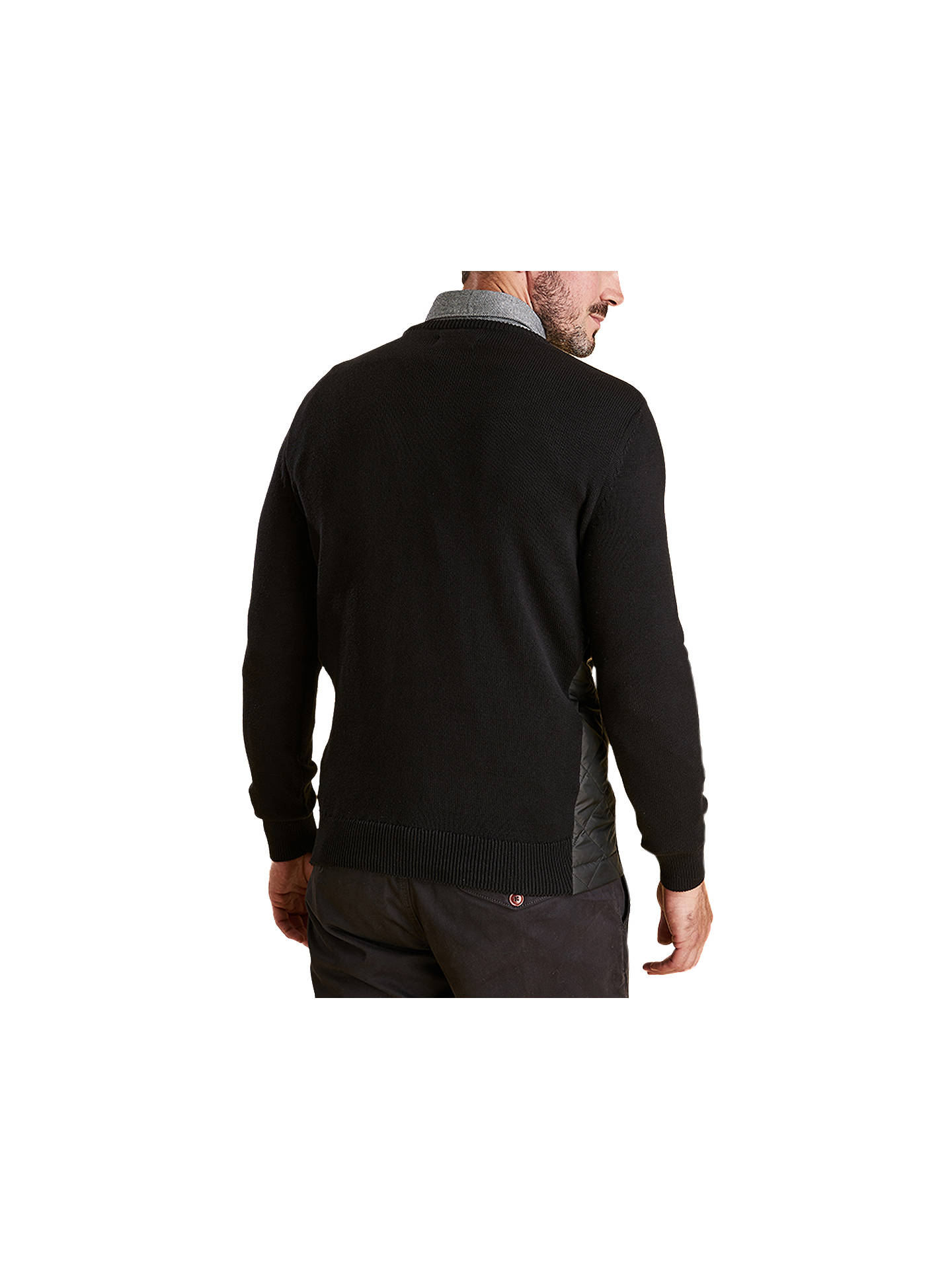 Buy Barbour Land Rover Defender Qulilt Panel Jumper, Black, XL Online at johnlewis.com