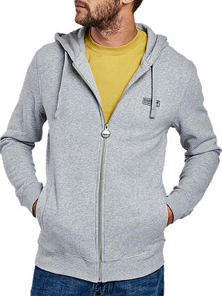 Buy Barbour International Essential Hoodie, Grey, L Online at johnlewis.com