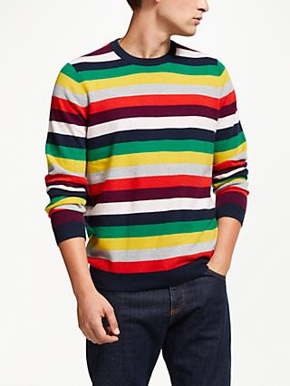 john lewis partners cashmere christmas stripe jumper multi