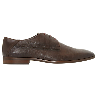 Dune Pacos Textured Derby Shoes