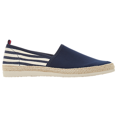 Dune Forlan Slip On Stripe Espadrilles, Navy