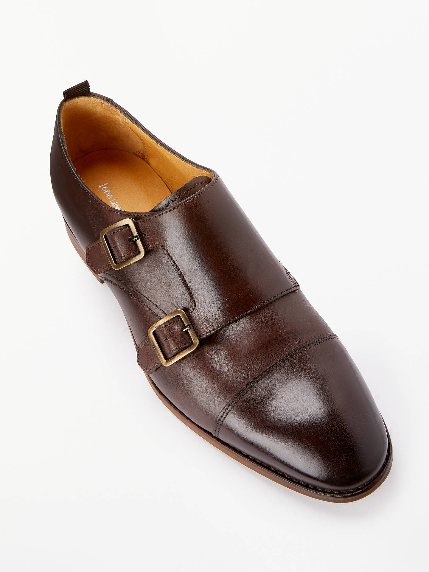 Buy John Lewis & Partners Genny Monk Strap Shoes, Brown Leather, 4 Online at johnlewis.com