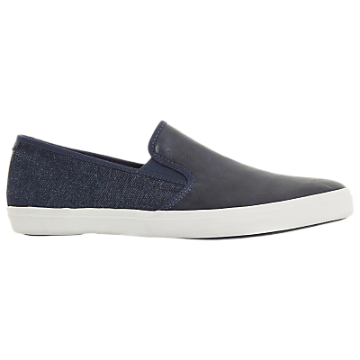Dune Thierry Canvas Contrast Trainers