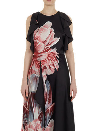 Buy Ted Baker Ulrika Maxi Dress, Black, 0 Online at johnlewis.com