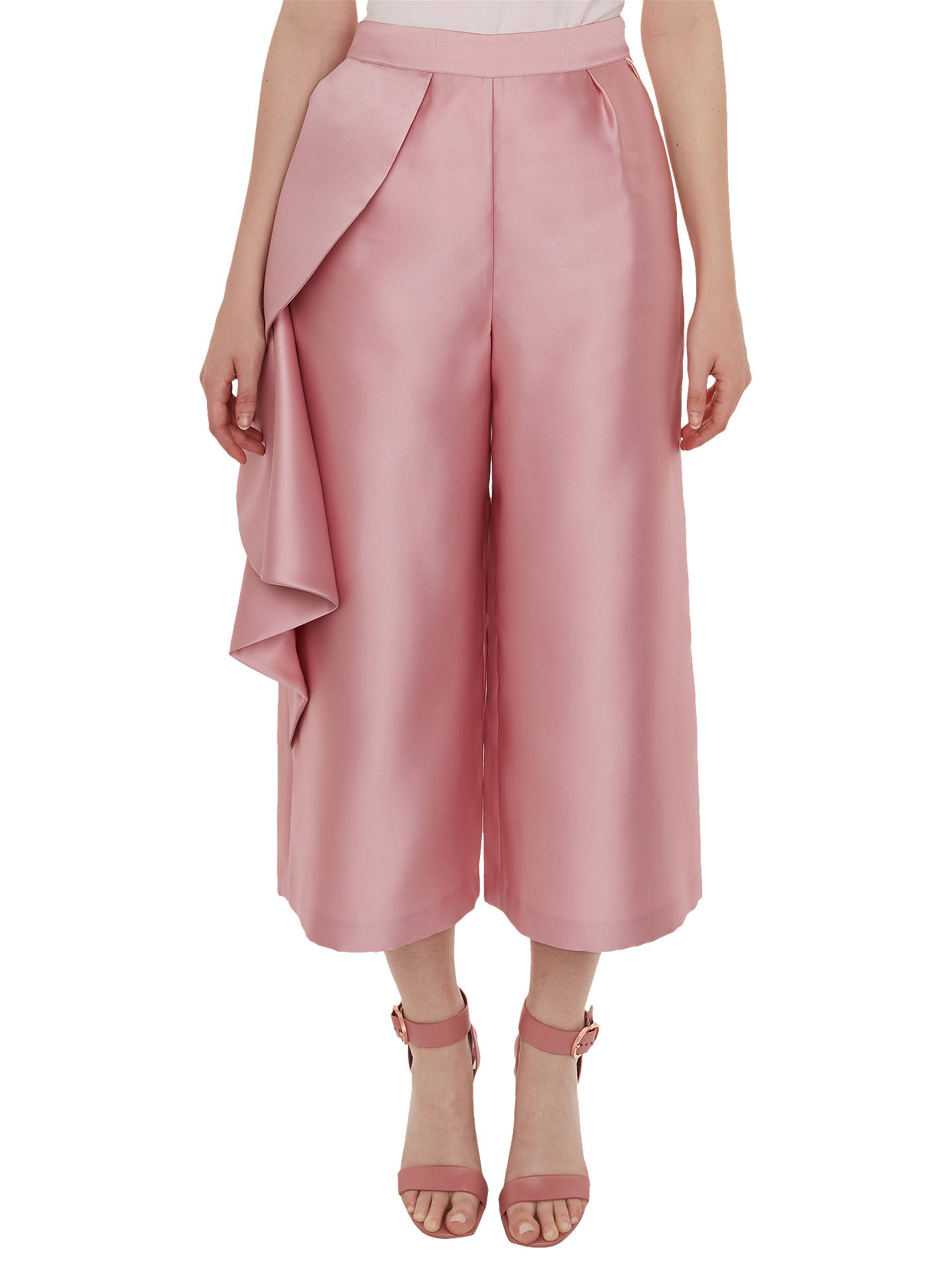 Buy Ted Baker Nannina Wide Trousers, Pink, 8 Online at johnlewis.com