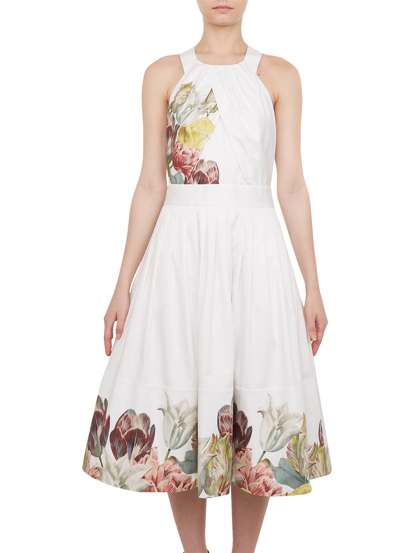 Buy Ted Baker Reettah Dress, White, 0 Online at johnlewis.com
