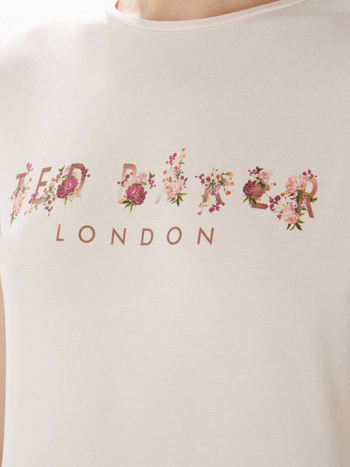 Buy Ted Baker Flixlee Branded Fitted T-Shirt, Lilac, 6 Online at johnlewis.com