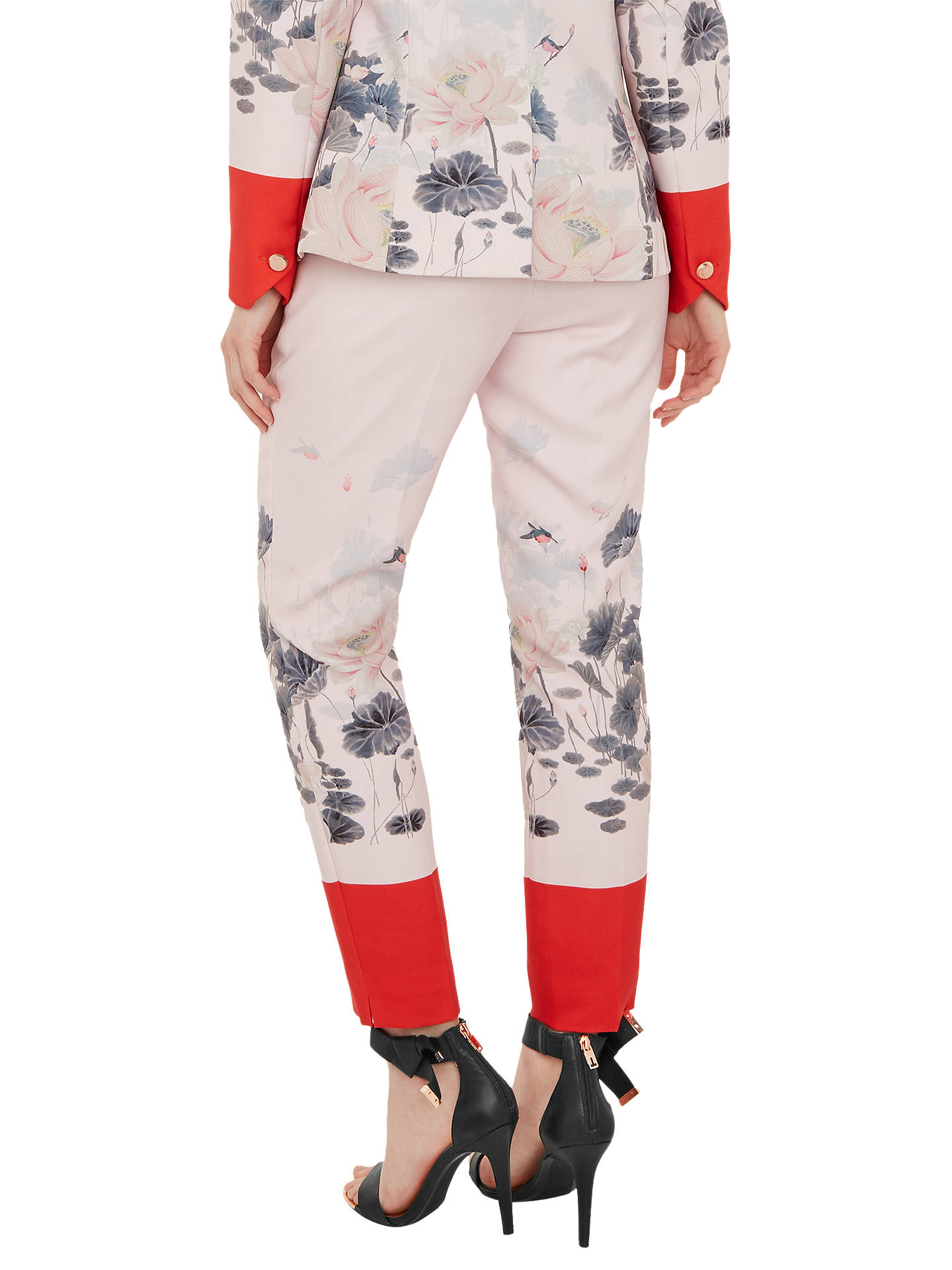 BuyTed Baker Naimht Lake Of Dreams Trousers, Pink, 2 Online at johnlewis.com