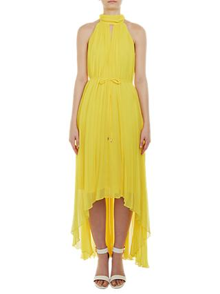 Ted Baker Nadette Pleated Collar Maxi Dress, Yellow
