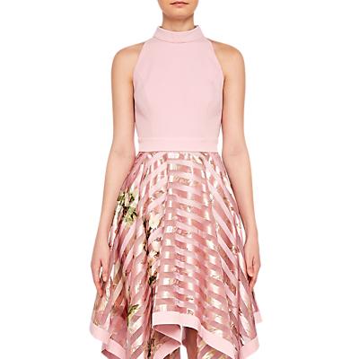 Ted Baker Angelik Harmony Burnout Sripe Dress, Pink