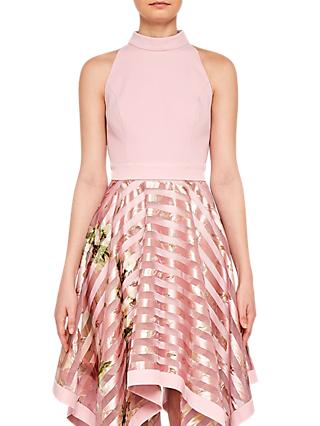 Ted Baker Angelik Harmony Burnout Sripe Dress, Pink