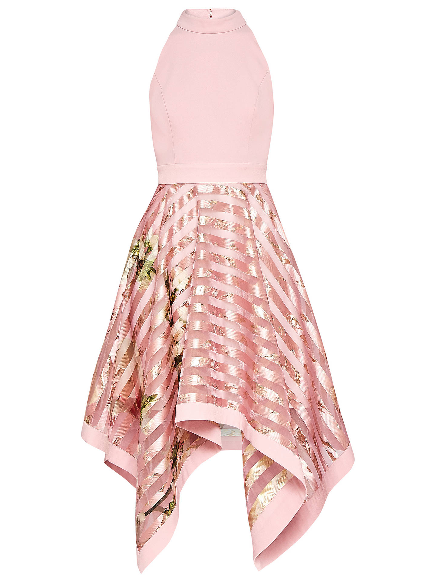 BuyTed Baker Angelik Harmony Burnout Sripe Dress, Pink, 0 Online at johnlewis.com