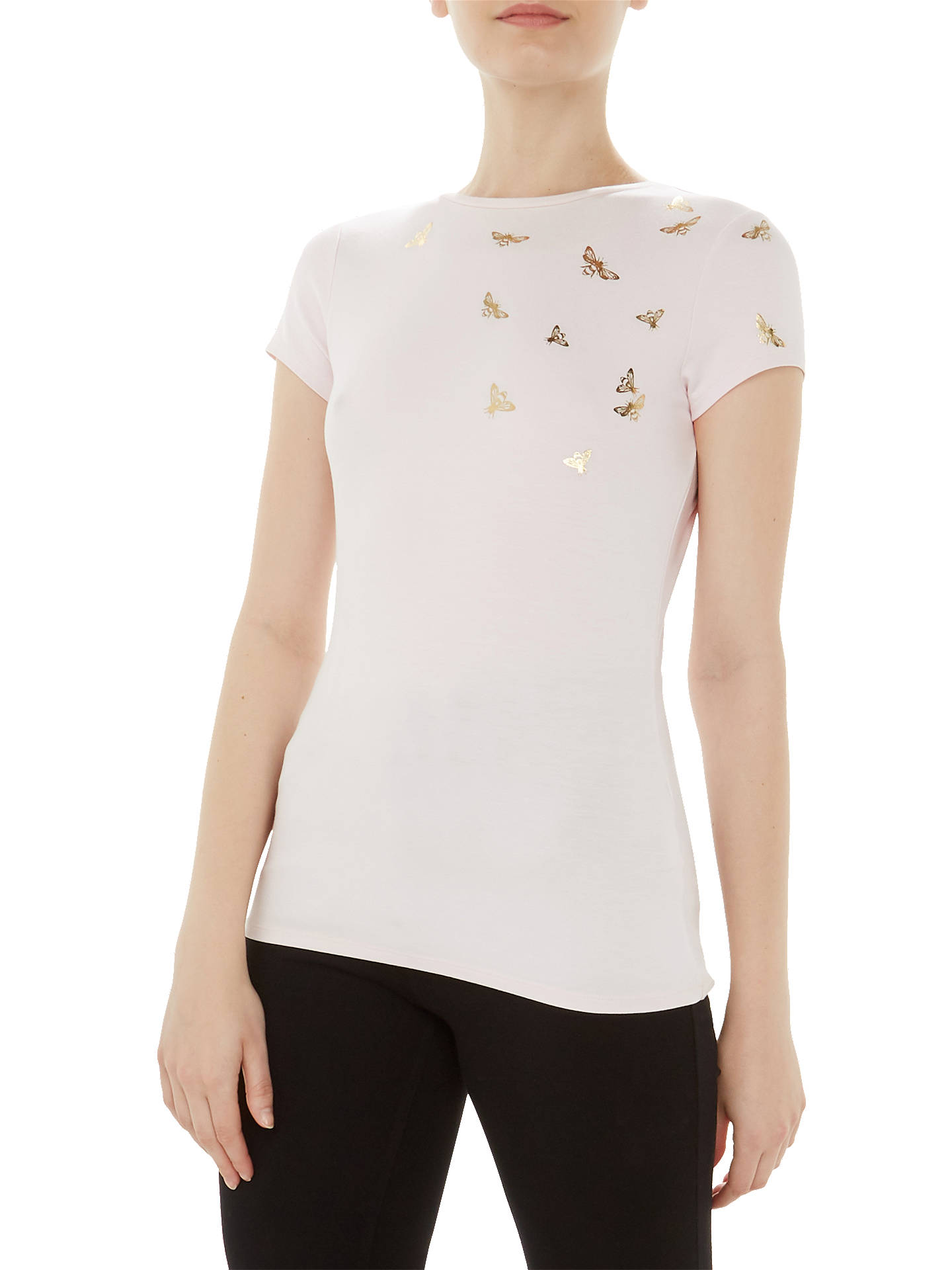 dcf0e64b Buy Ted Baker Laraeen Fitted T-Shirt, Pink, 6 Online at johnlewis.