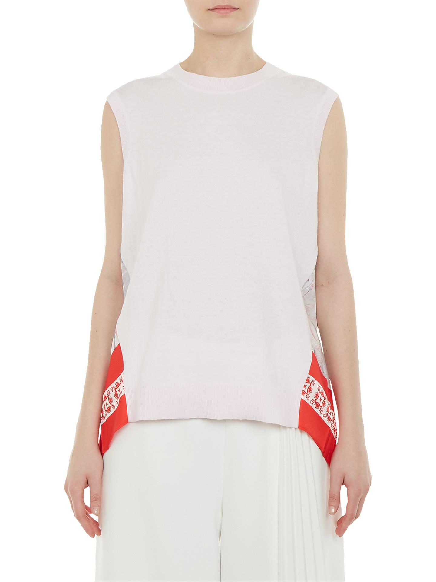 BuyTed Baker Frankii Lake Of Dreams Pleat Knit Top, Pink, 4 Online at johnlewis.com