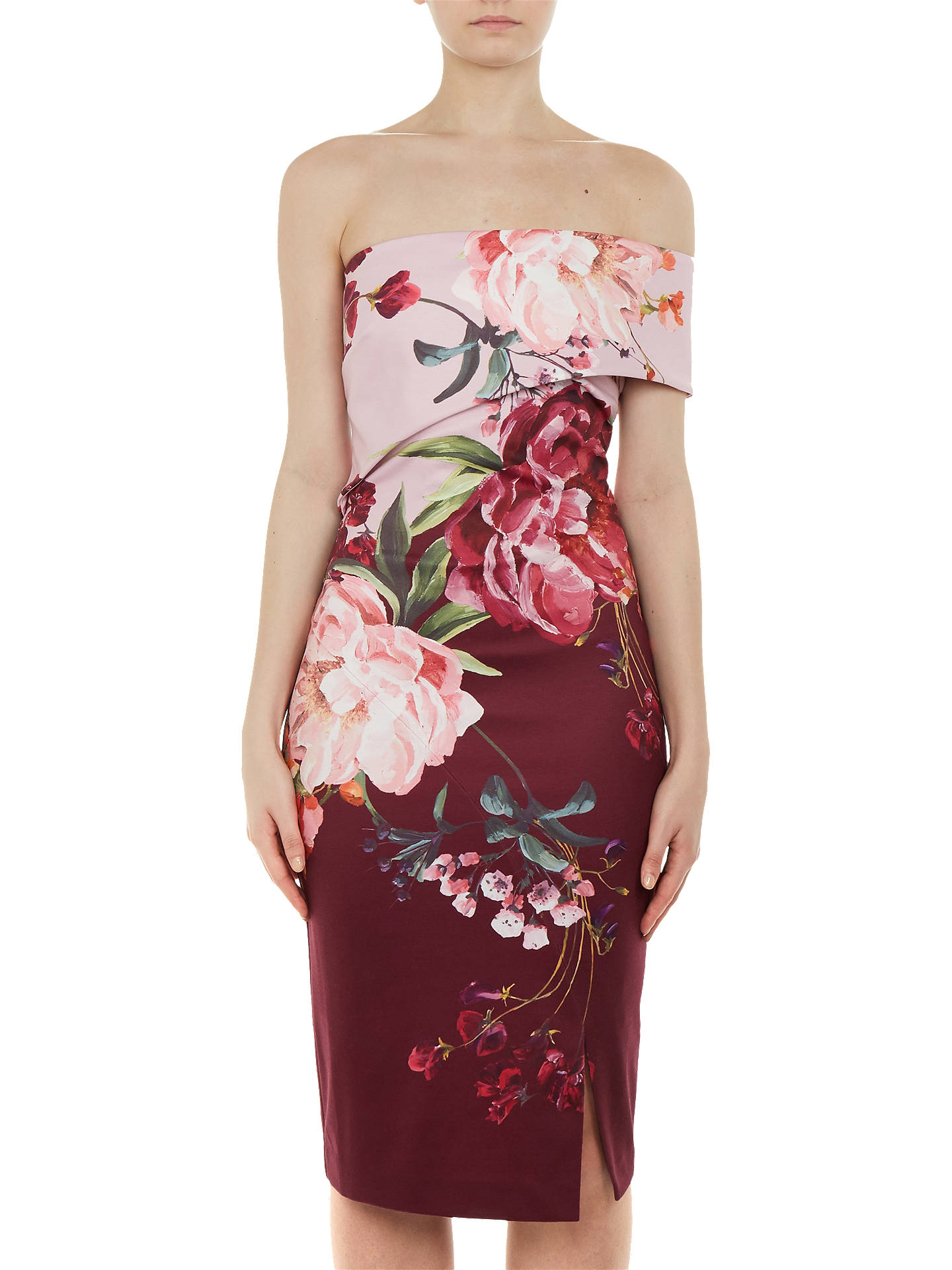 Buy Ted Baker Irlina Serenity Print Dress, Purple, 6 Online at johnlewis.com