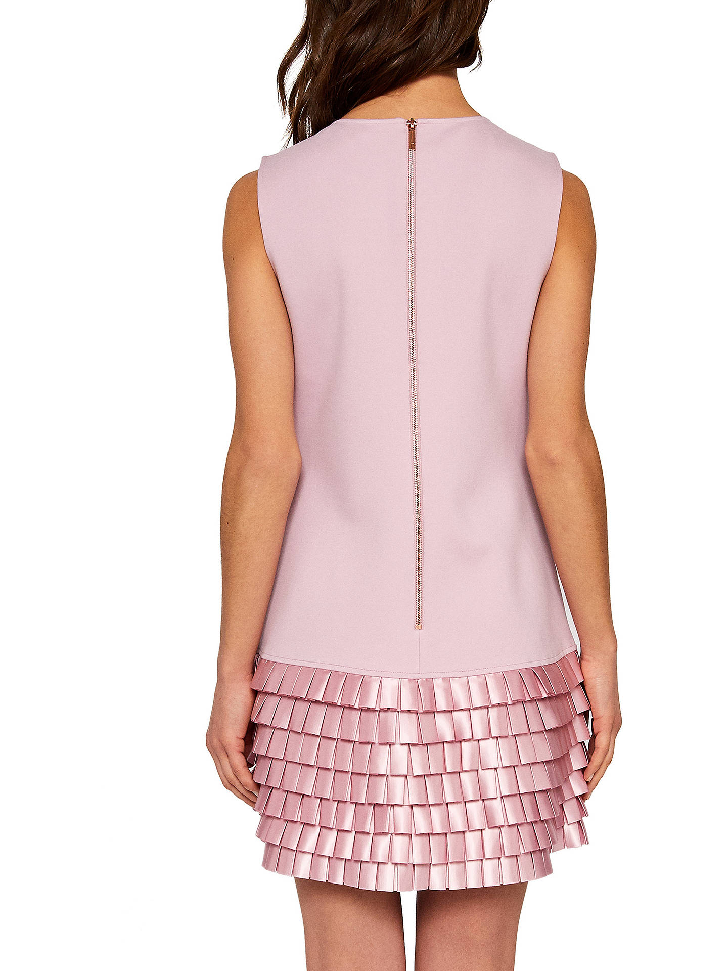 BuyTed Baker Marggia Satin Loop Shift Dress, Pale Pink, 0 Online at johnlewis.com