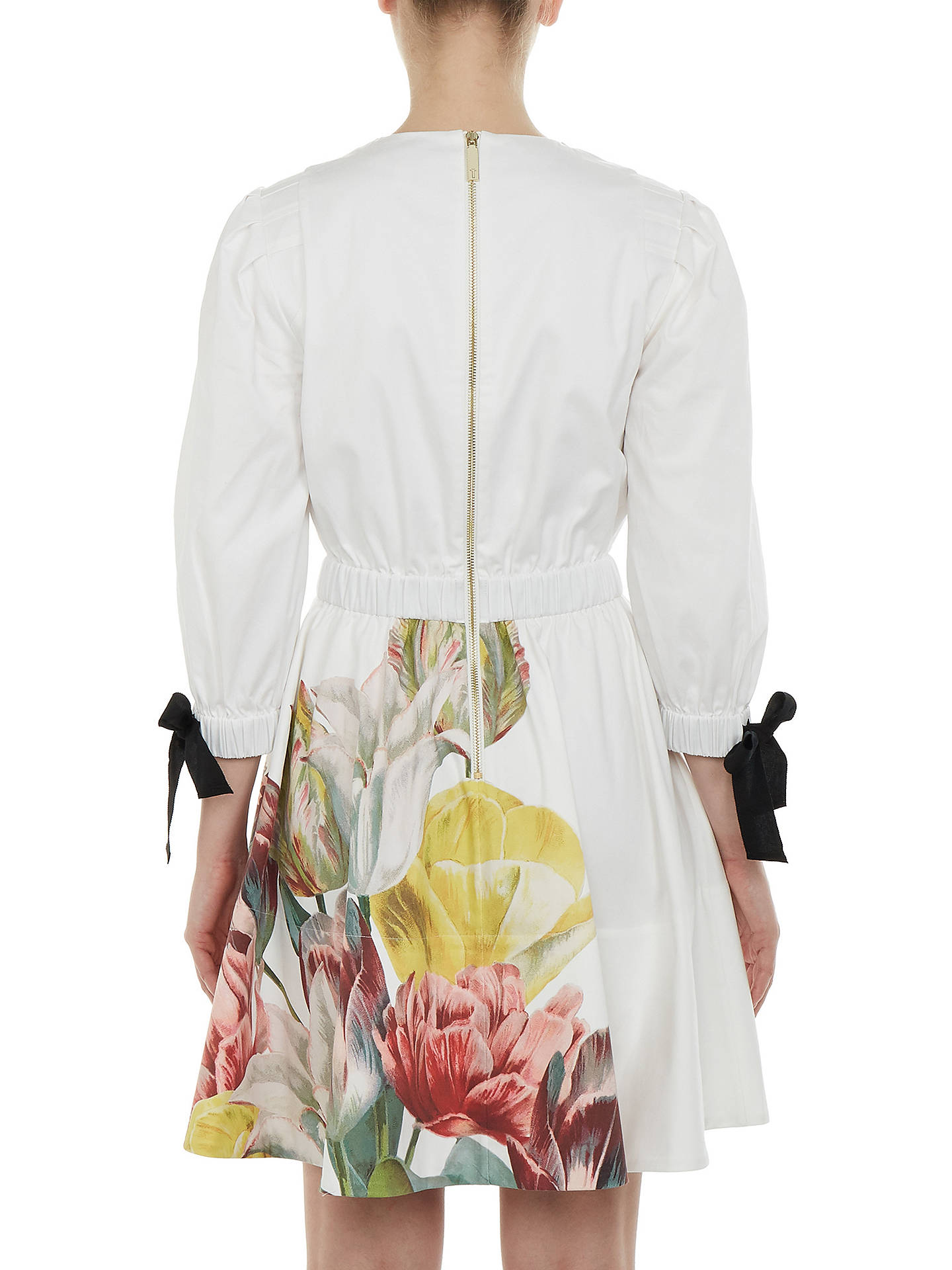 BuyTed Baker Tuleela Tranquility Print Dress, White, 0 Online at johnlewis.com