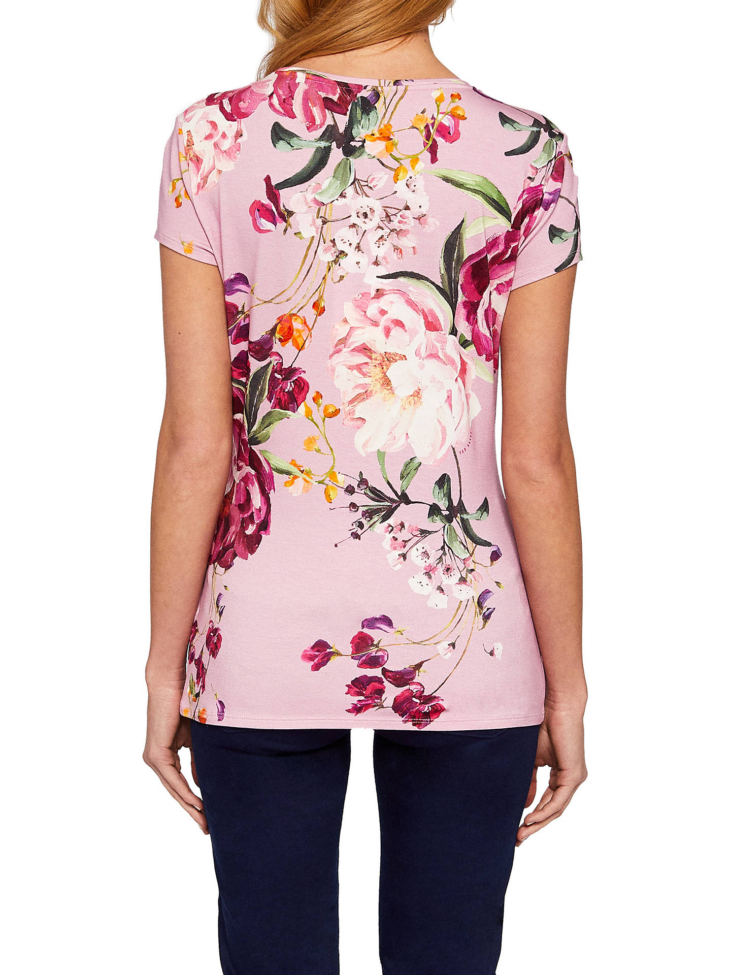 BuyTed Baker Evaai Serenity Print Fitted T-shirt, Purple, 6 Online at johnlewis.com