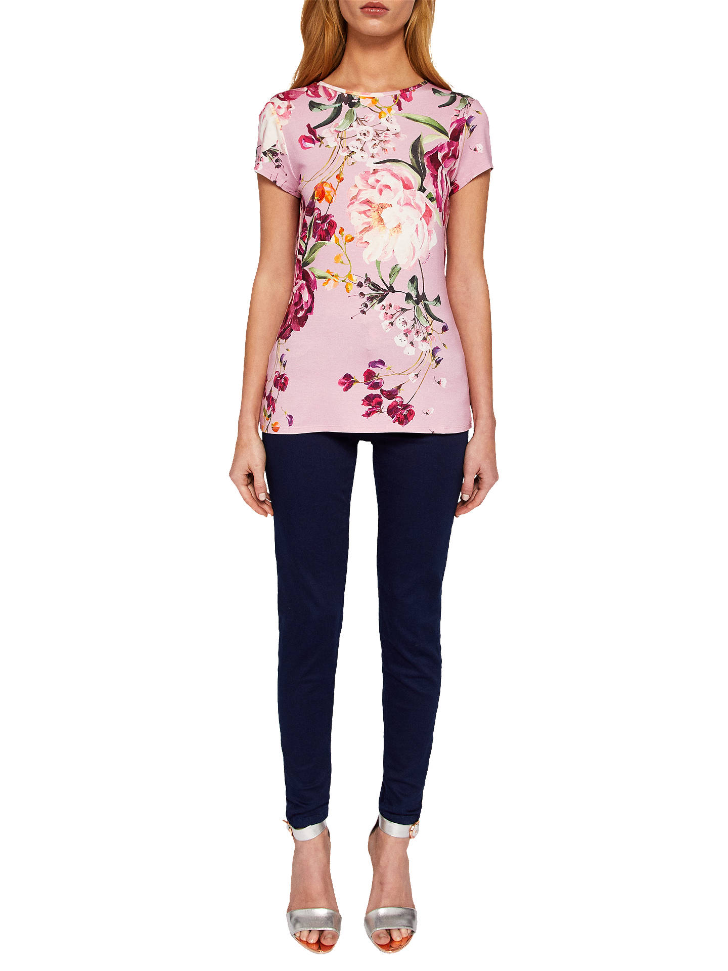 ca189bfd2 ... Buy Ted Baker Evaai Serenity Print Fitted T-Shirt, Purple, 6 Online at  ...