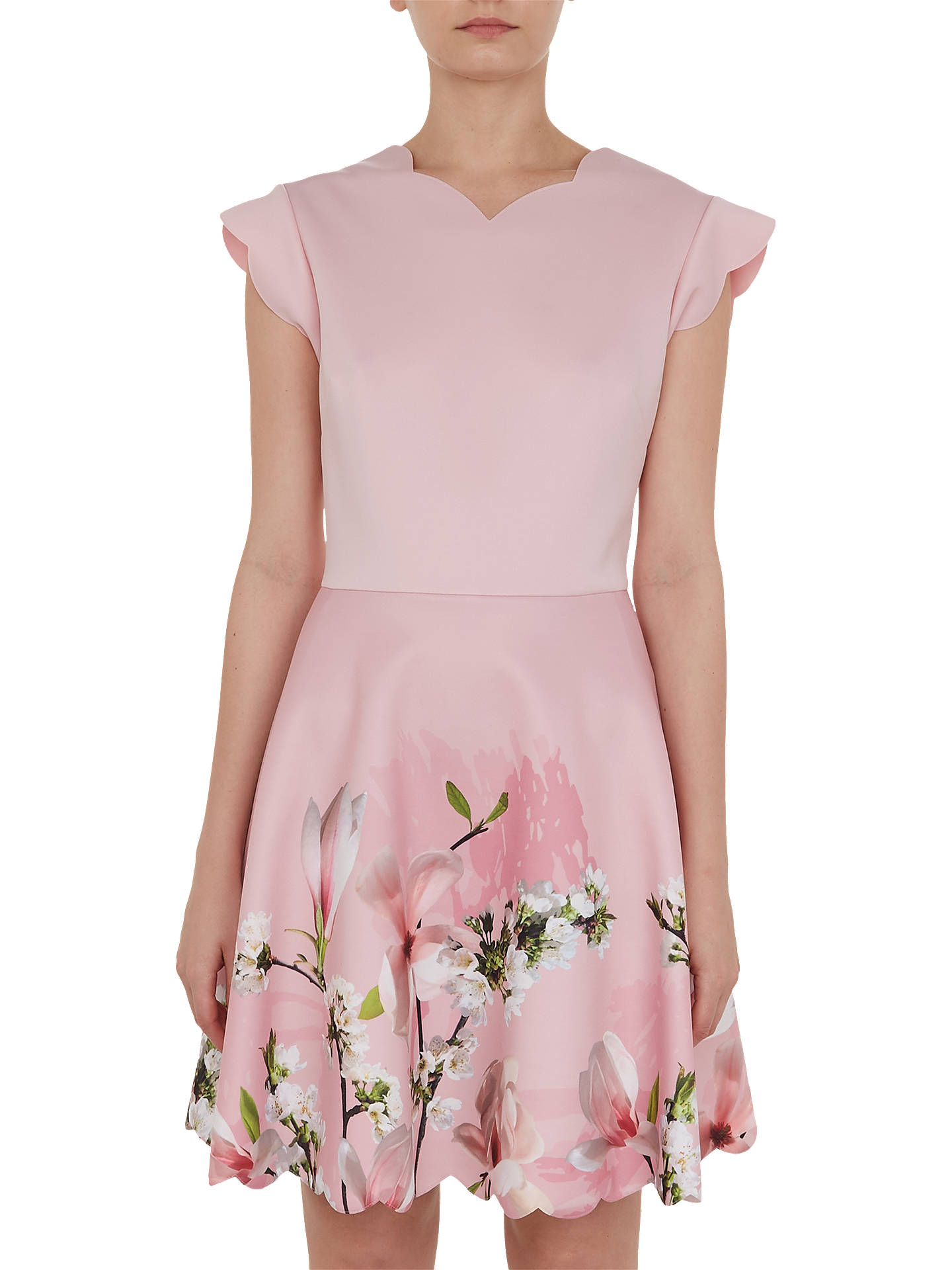 fecb61551 Ted Baker Grettae Harmony Skater Dress, Pale Pink at John Lewis ...