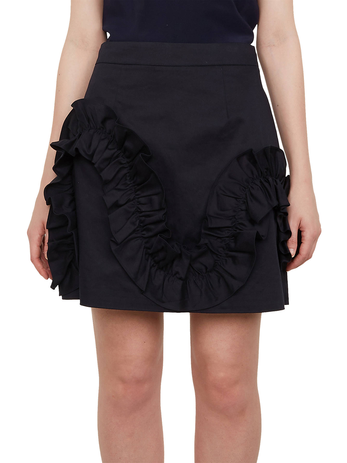 BuyTed Baker Suzanah Mini Skirt, , Navy, 0 Online at johnlewis.com