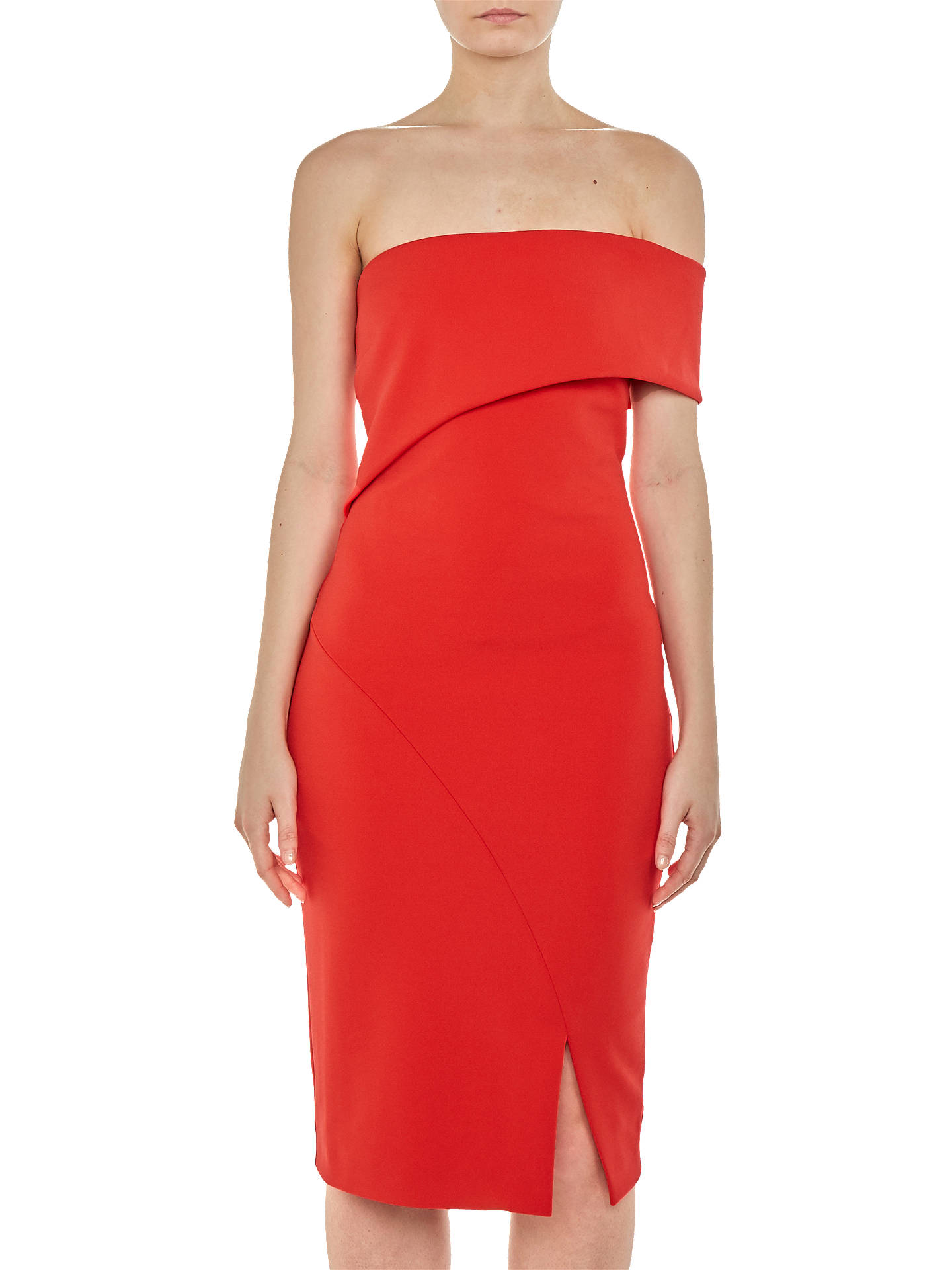 Buy Ted Baker Areena Bardot Dress, Red, 8 Online at johnlewis.com