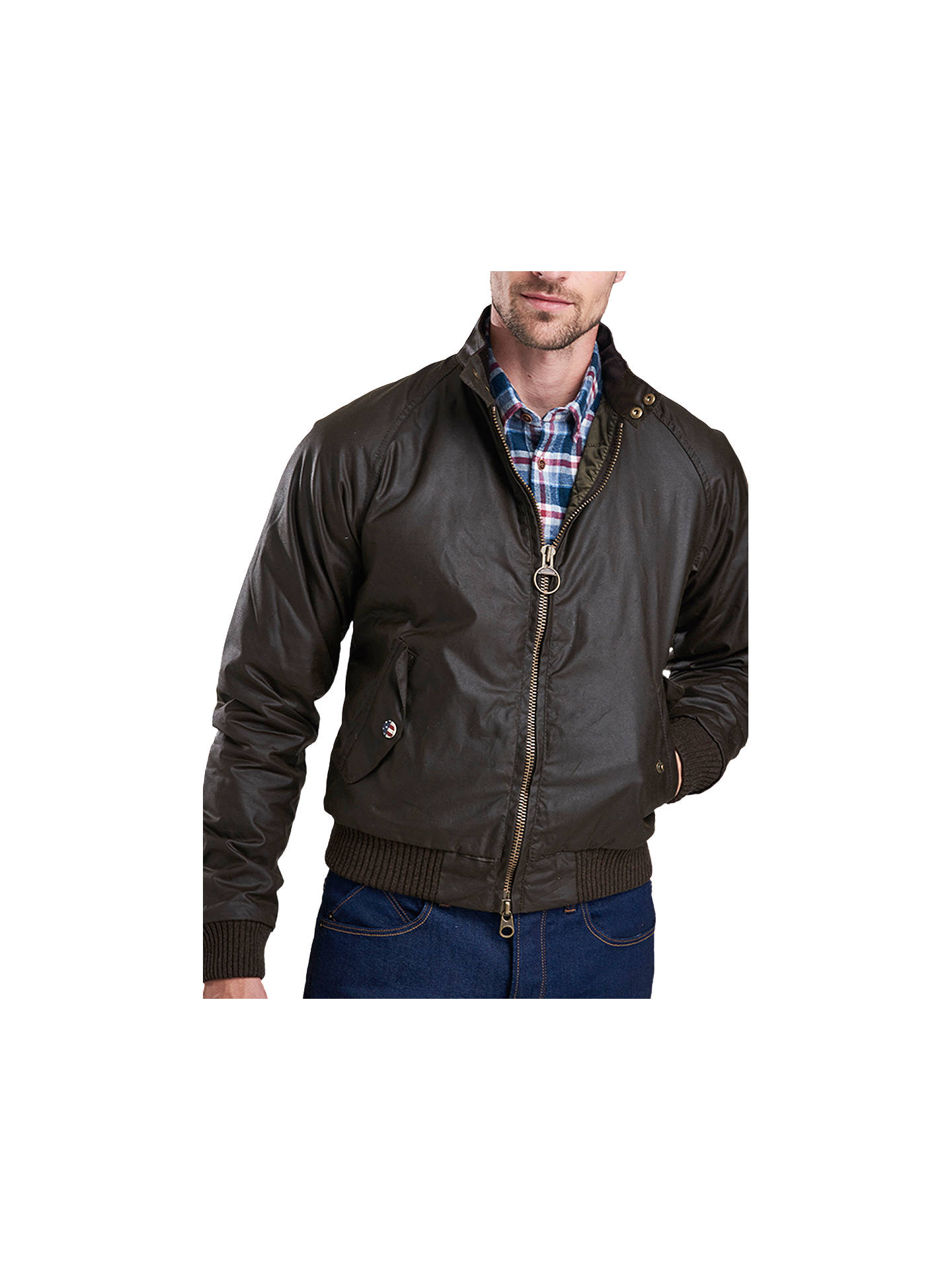 Buy Barbour International Merchant Wax Bomber Jacket, Brown, XL Online at johnlewis.com