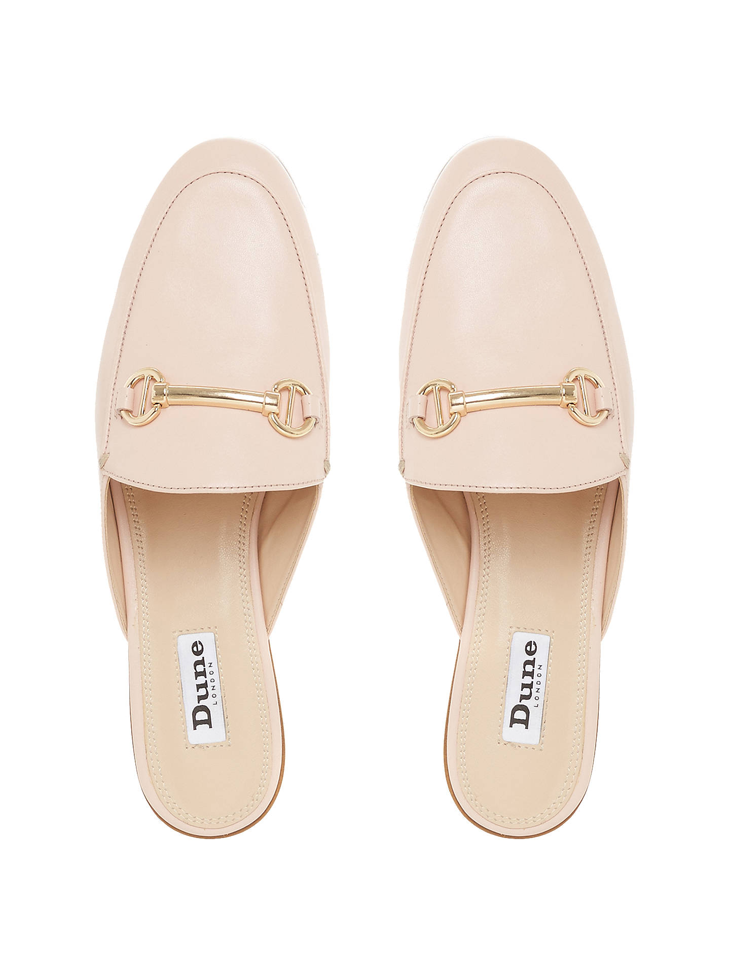 BuyDune Gene Backless Saddle Loafers, Blush, 3 Online at johnlewis.com