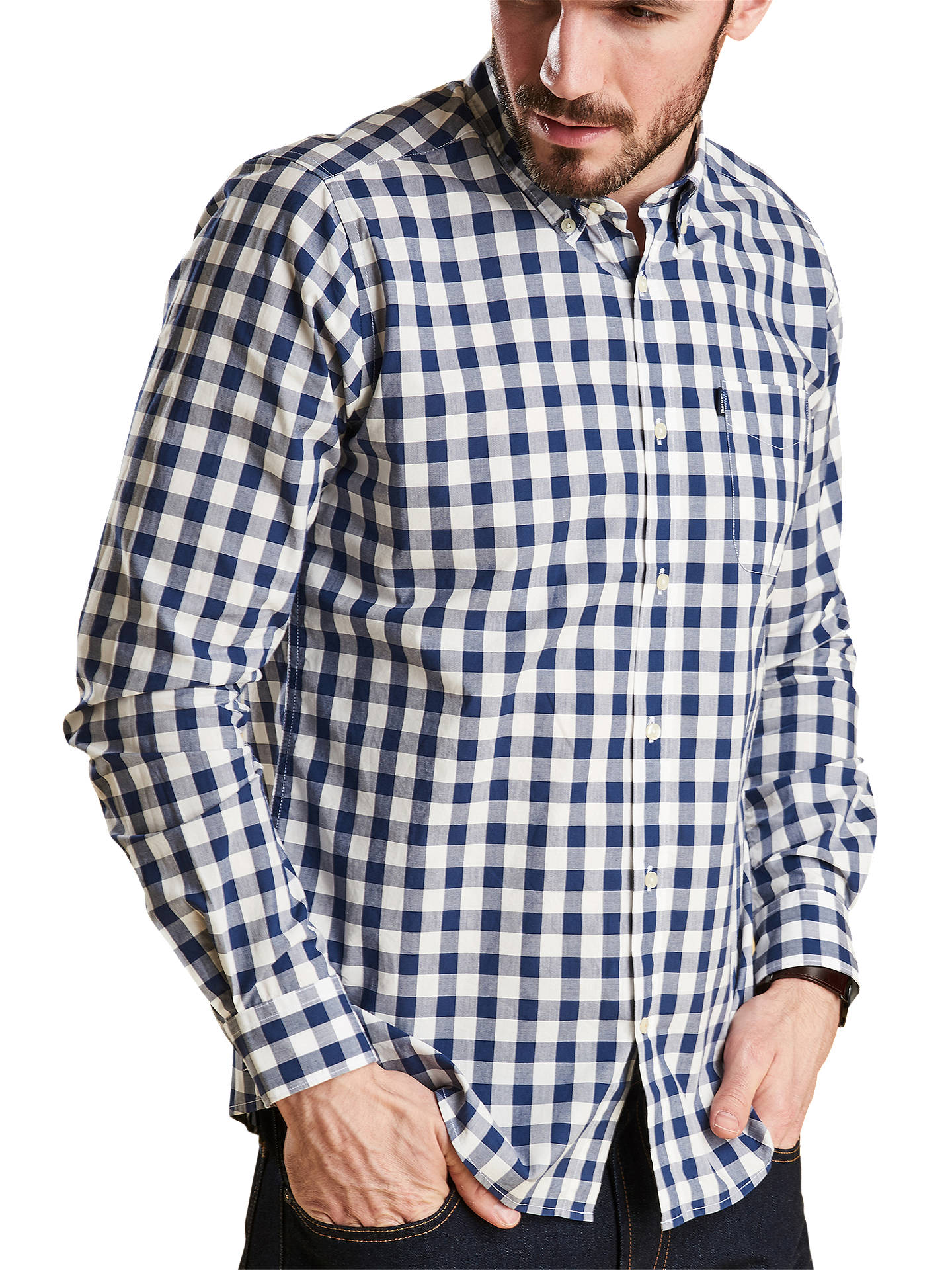 Buy Barbour Endsleigh Gingham Shirt, Blue/White, L Online at johnlewis.com