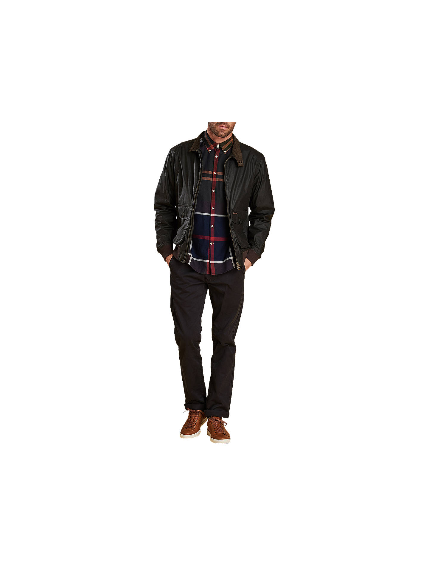 BuyBarbour Dunoon Check Shirt, Brown, L Online at johnlewis.com