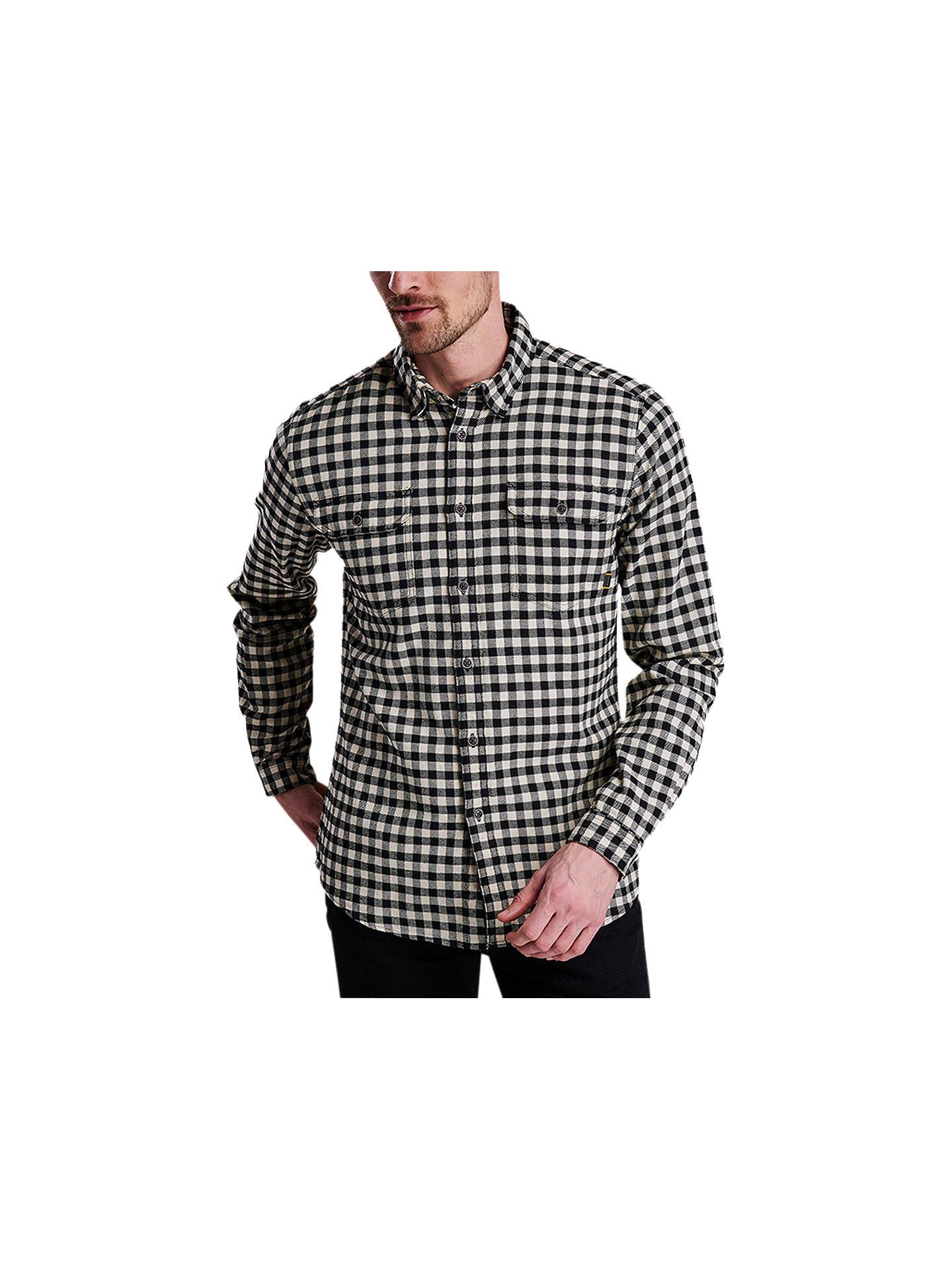 009cbfc704704 Barbour International Killinger Long Sleeve Check Shirt, Black at ...