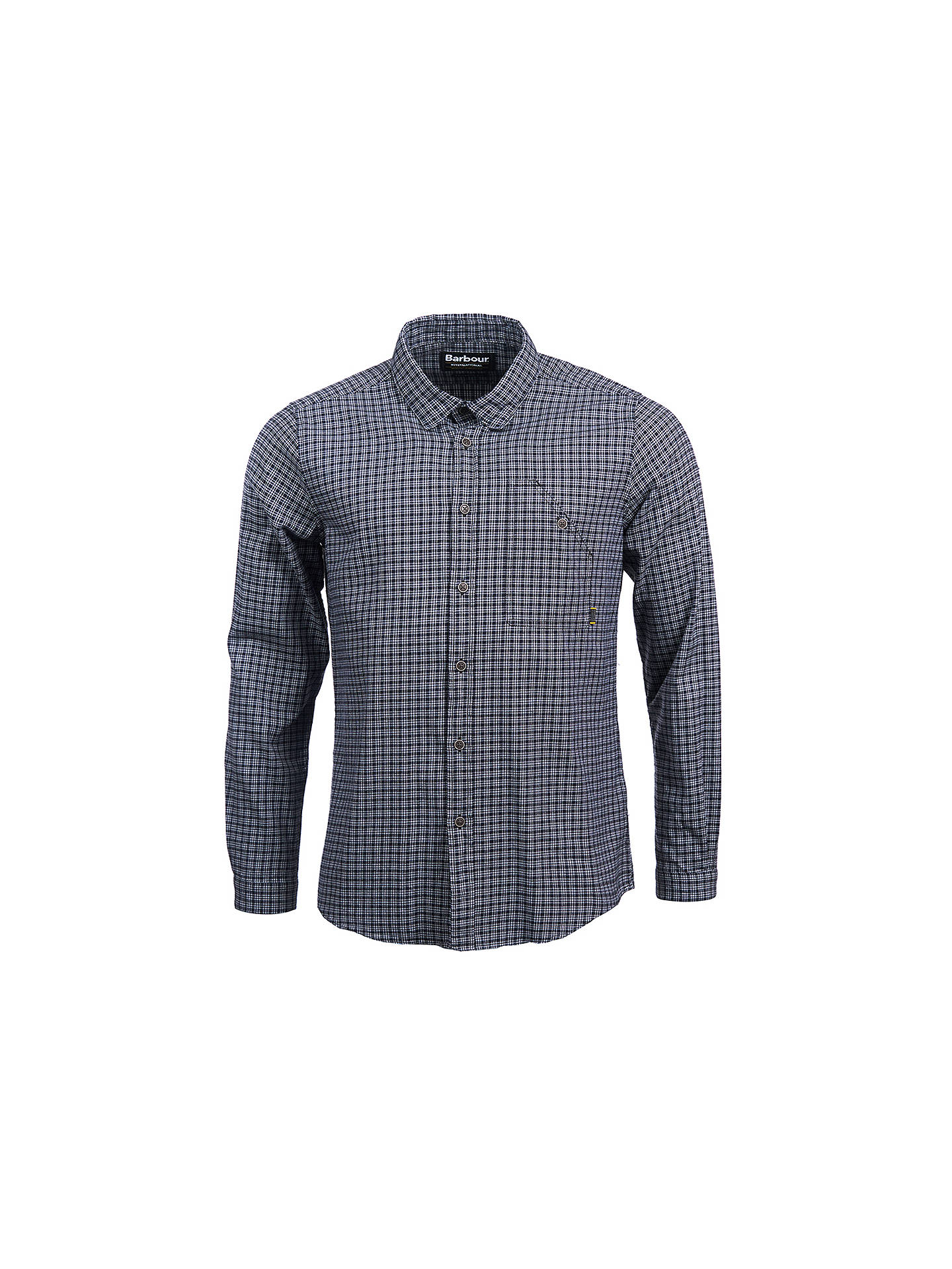 BuyBarbour International Elite Long Sleeve Check Shirt, Black, XL Online at johnlewis.com