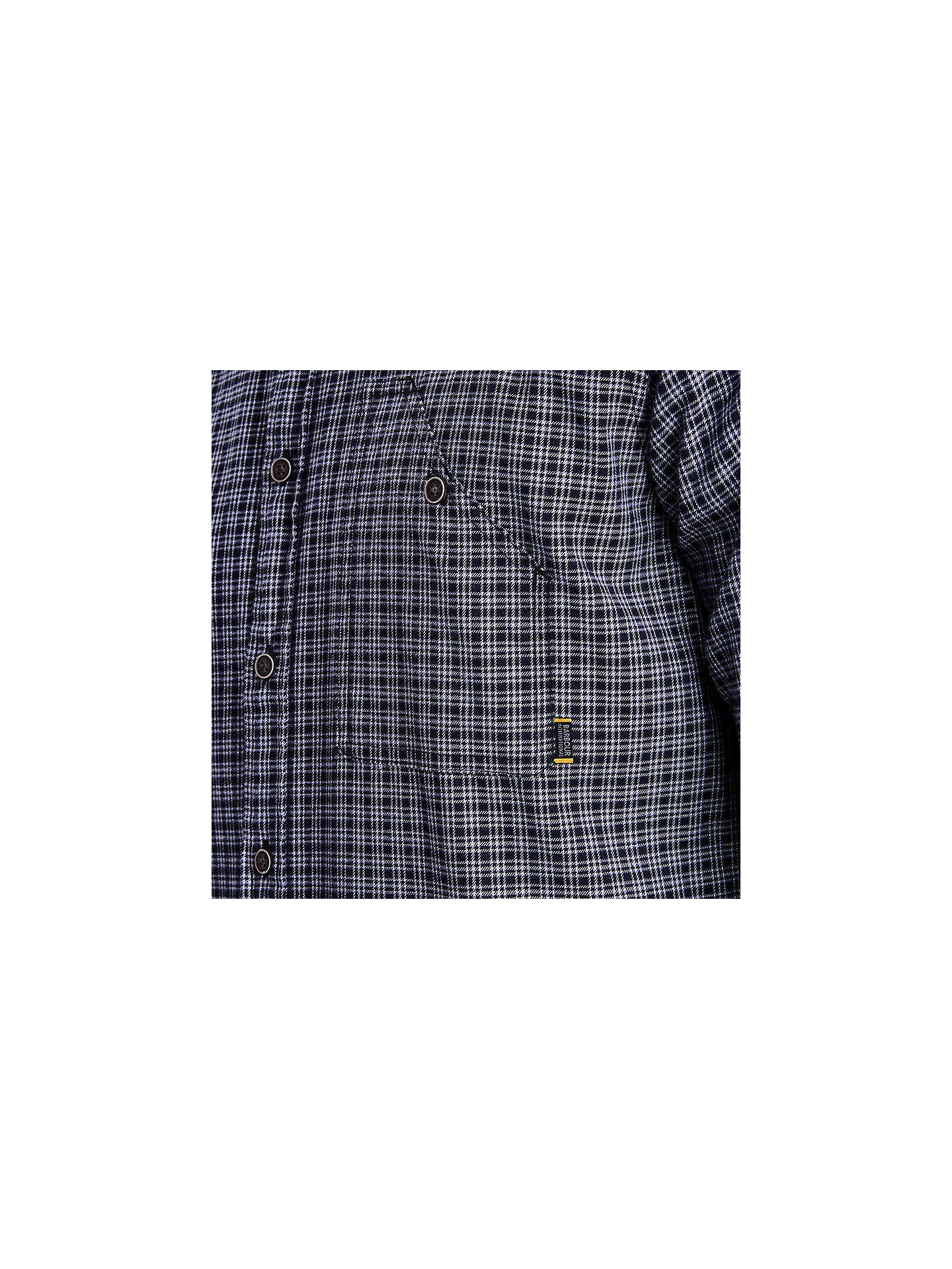 Buy Barbour International Elite Long Sleeve Check Shirt, Black, XL Online at johnlewis.com