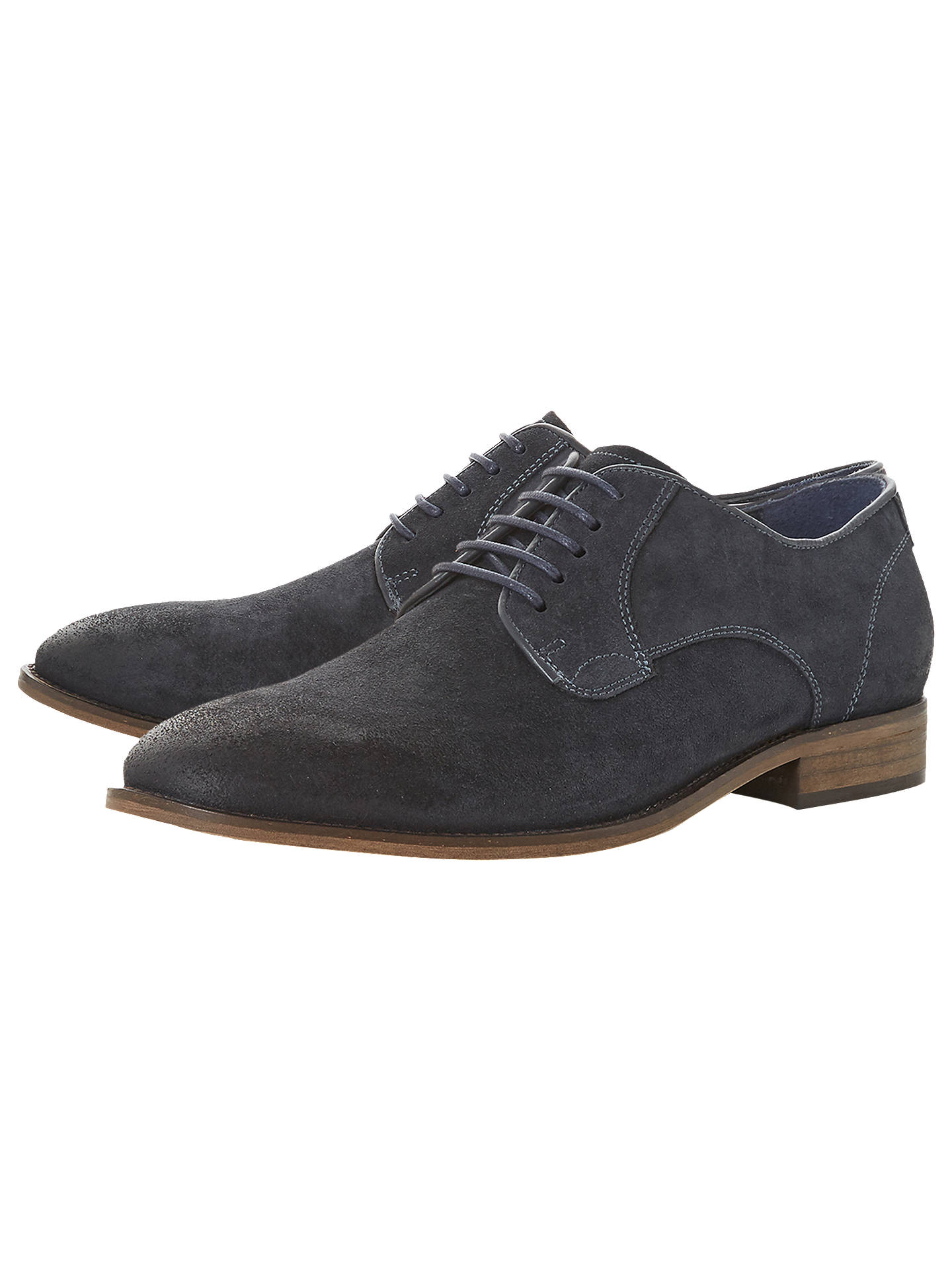 BuyBertie Percie Suede Gibson Shoes, Navy, 6 Online at johnlewis.com