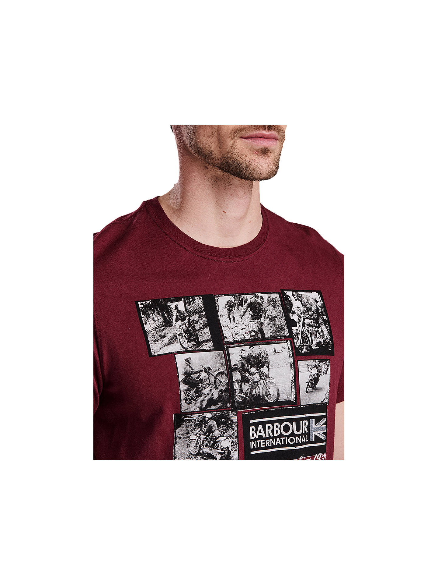 Buy Barbour International Short Sleeve Graphic T-Shirt, Port, S Online at johnlewis.com