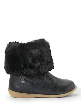 John Lewis & Partners Children's Elsa Boots, Black
