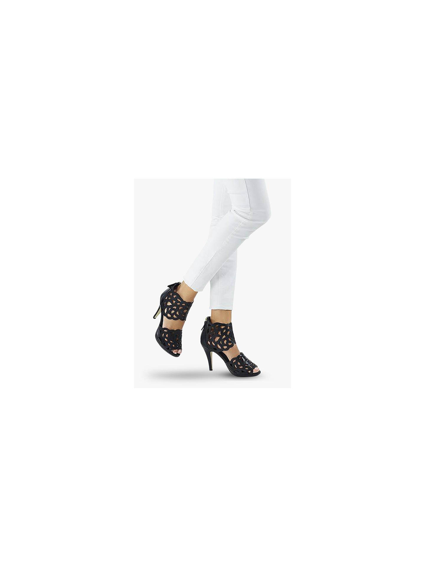 Buy Sargossa Inspire Heeled Sandals, Black Suede, 4 Online at johnlewis.com