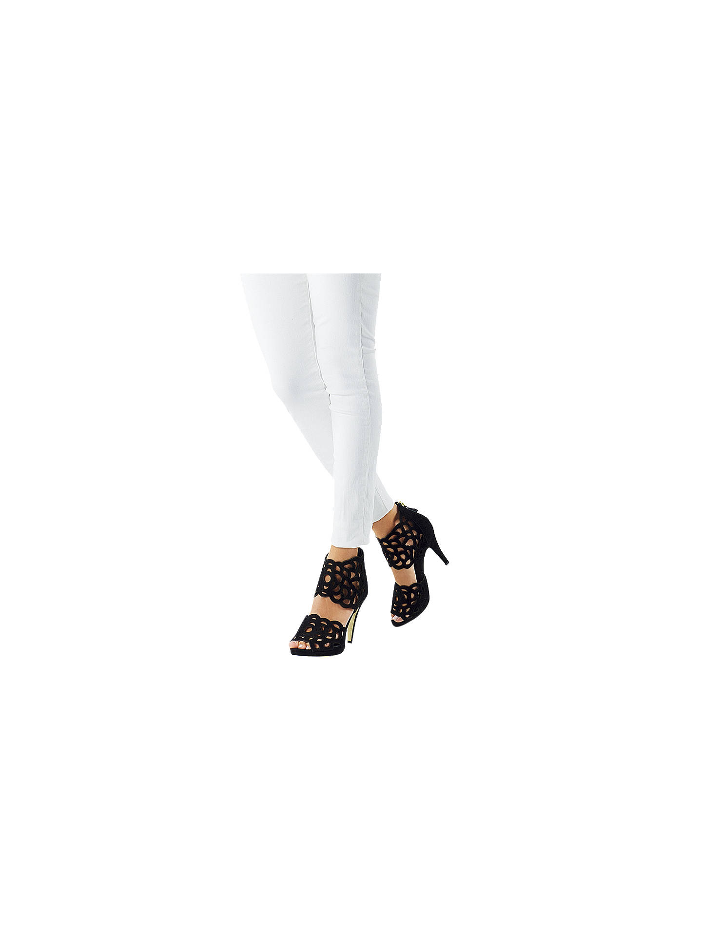 BuySargosa Inspire Heeled Sandals, Black Suede, 4 Online at johnlewis.com