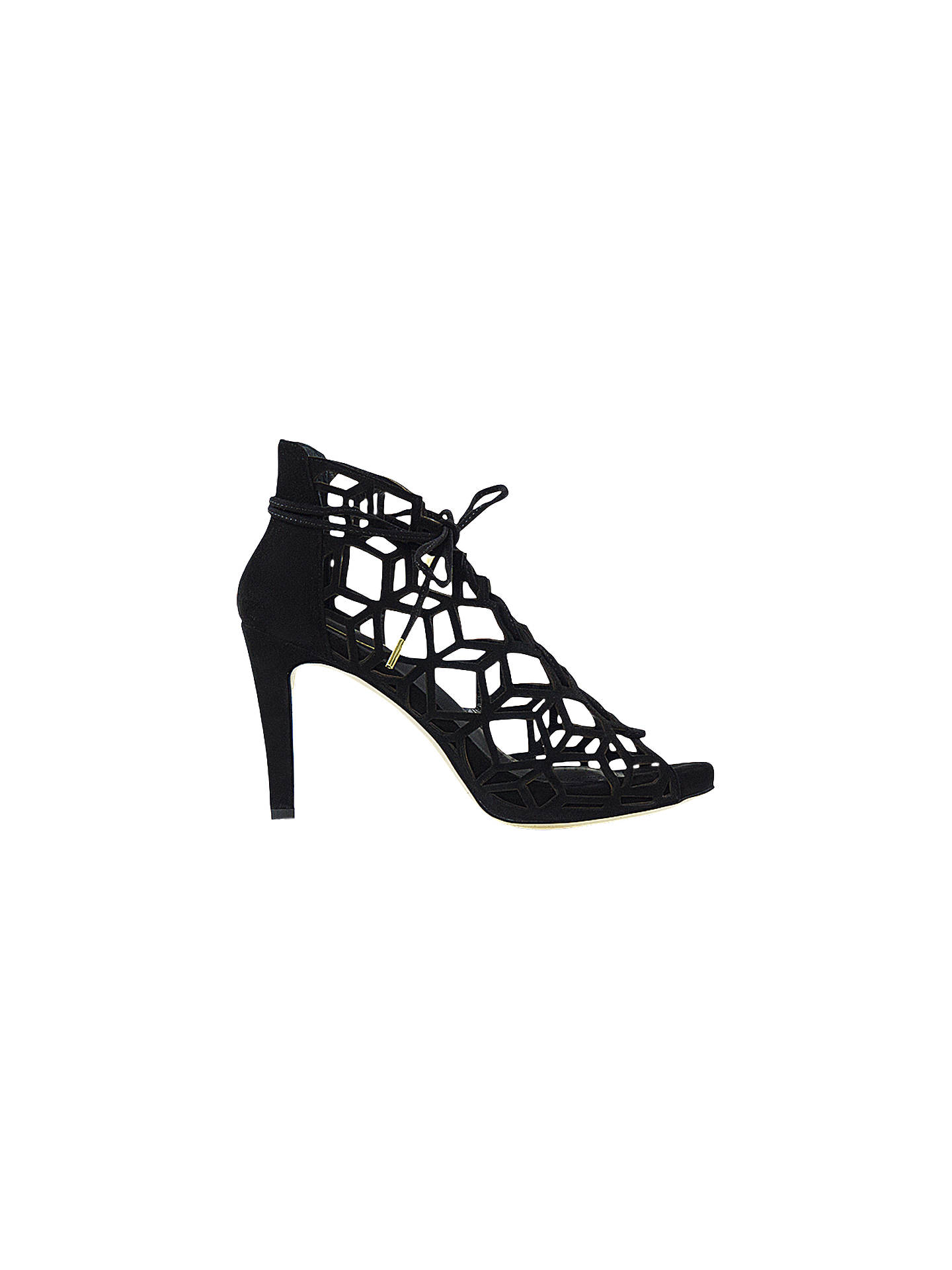 BuySargossa Fairytale Lace Up Stiletto Heel Sandals, Black Suede, 6 Online at johnlewis.com