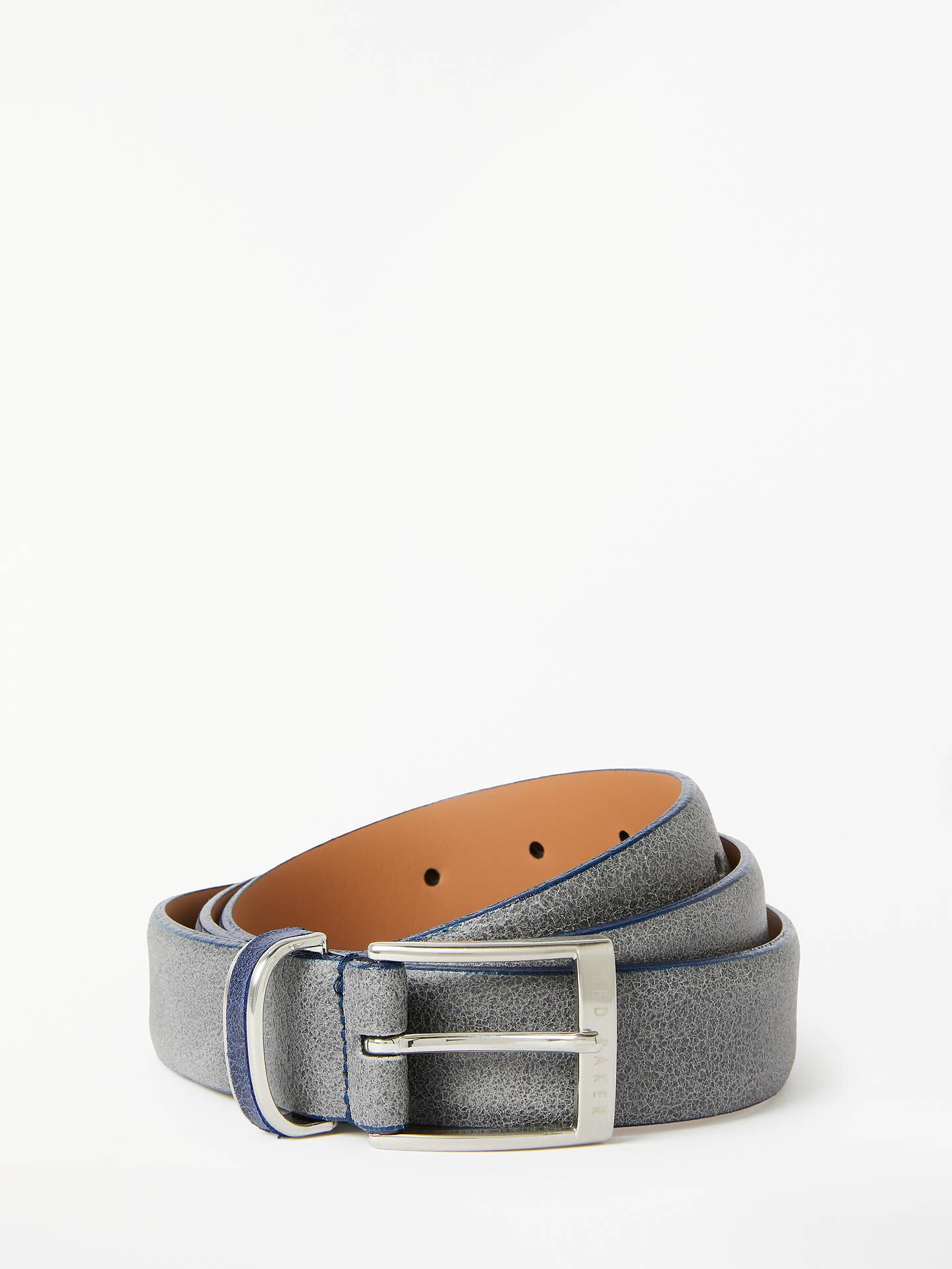 Buy Ted Baker Carrilo Waxed Suede Belt, Grey, S Online at johnlewis.com
