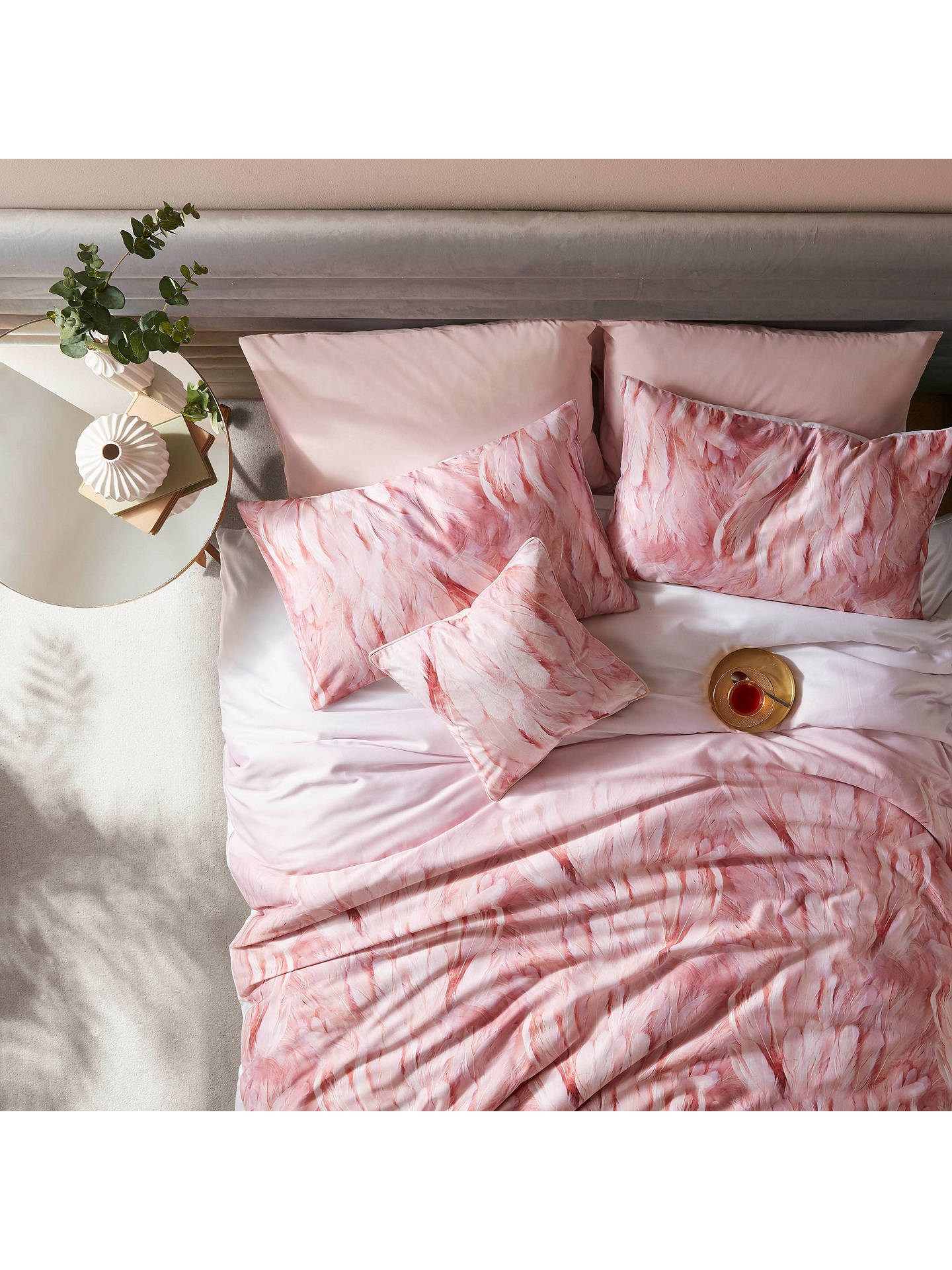 BuyTed Baker Angel Falls Pair Standard Pillowcases, Pink Online at johnlewis.com