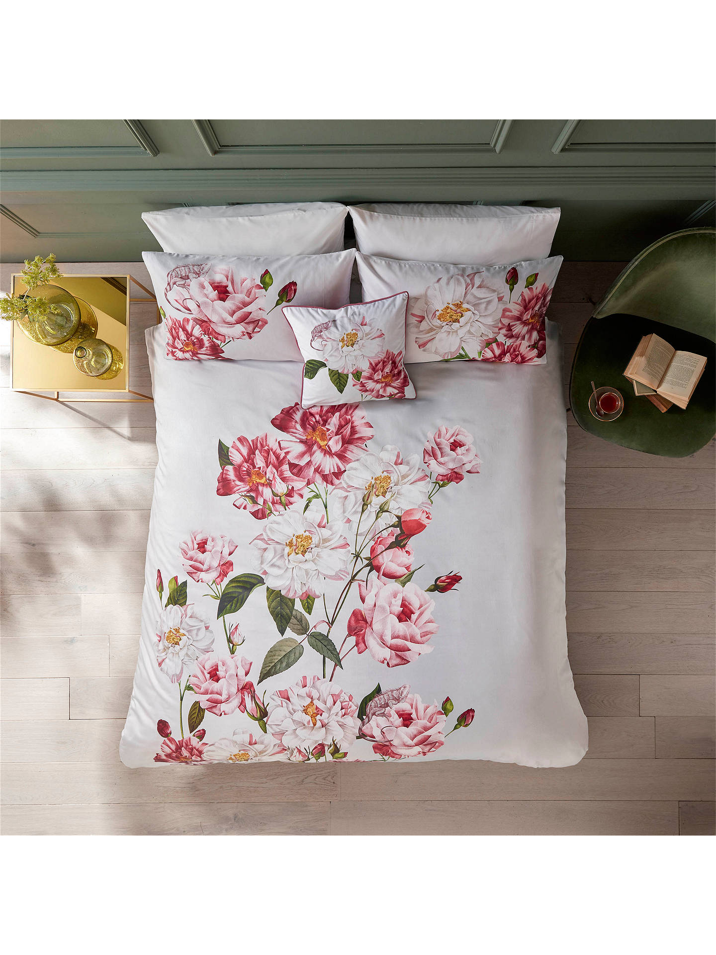 Buy Ted Baker Iguazu Pair Standard Pillowcases, Grey Online at johnlewis.com