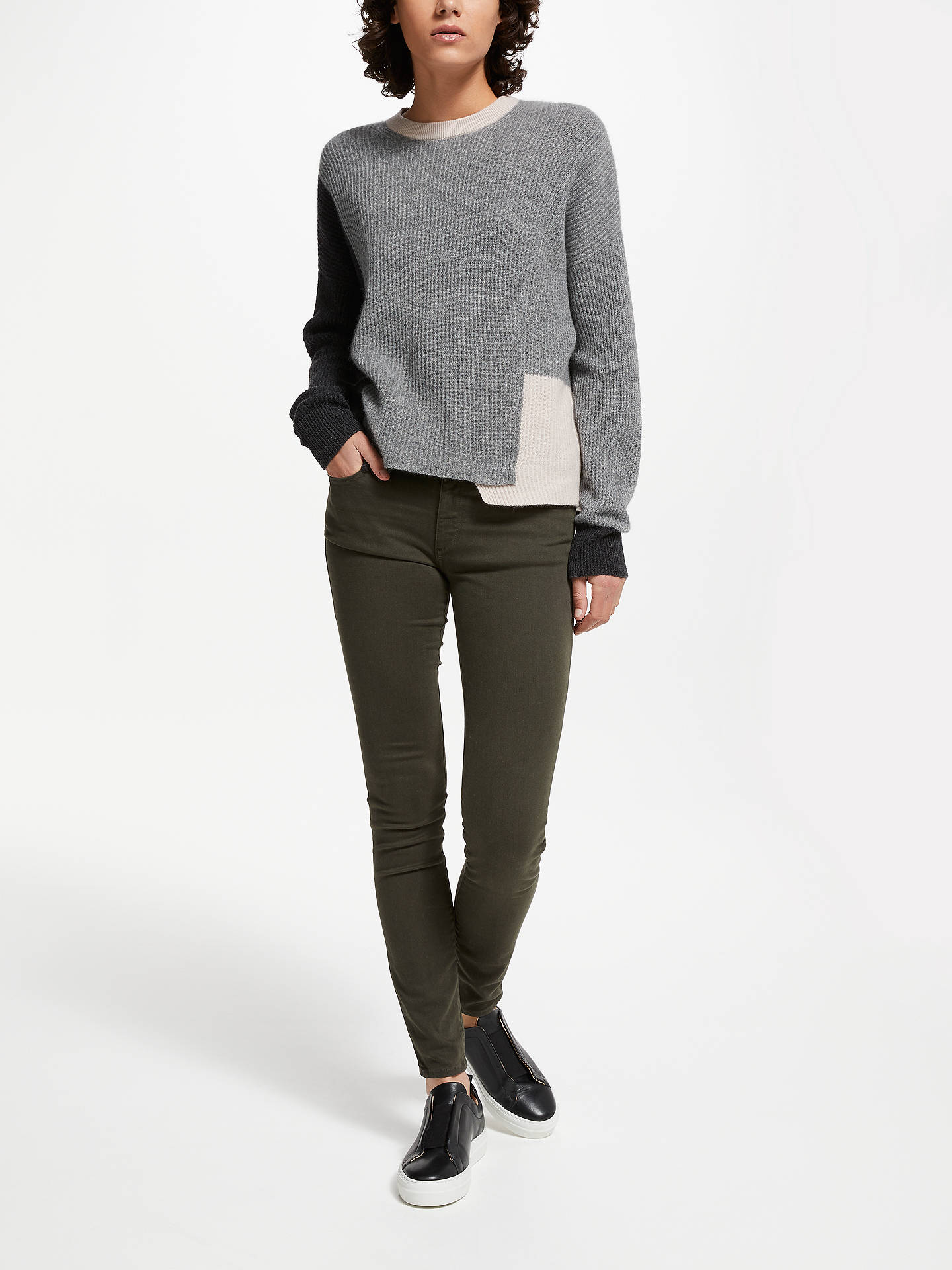 BuyDL1961 Florence Mid Rise Skinny Jeans, Dale, 24 Online at johnlewis.com