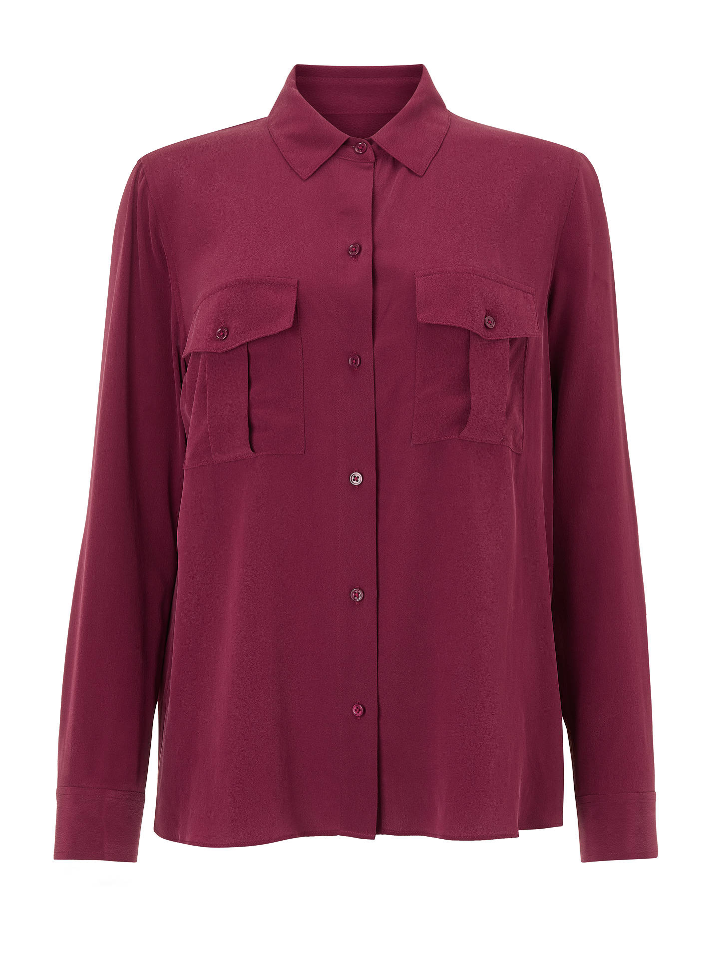 Buy Rails Rhett Silk Top, Merlot, XS Online at johnlewis.com